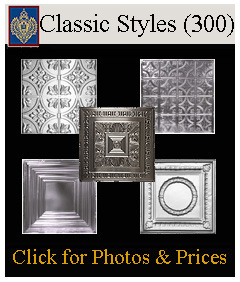 classic styles of tin panels