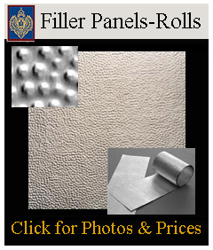 a variety of fillers for ceiling design